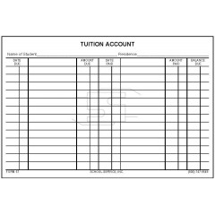 57 - Tuition Account Card
